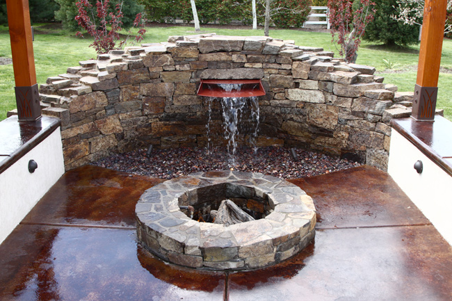 Water features landscape design ashland medford oregon for Fire and water features